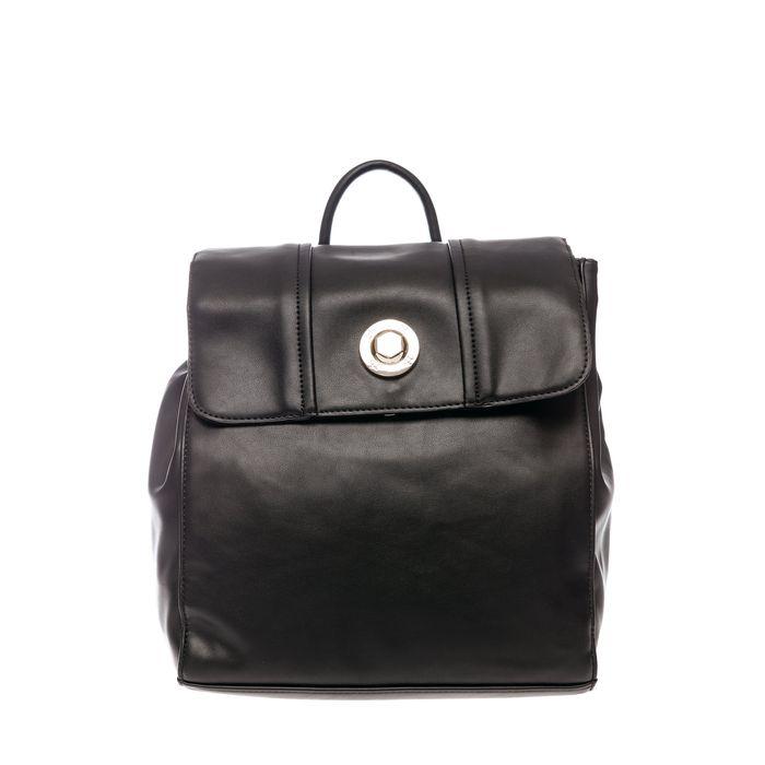 Roccobarocco γυναικείο backpack με μεταλλικό λογότυπο - 03HRBBS3JI04/TO - Μαύρο