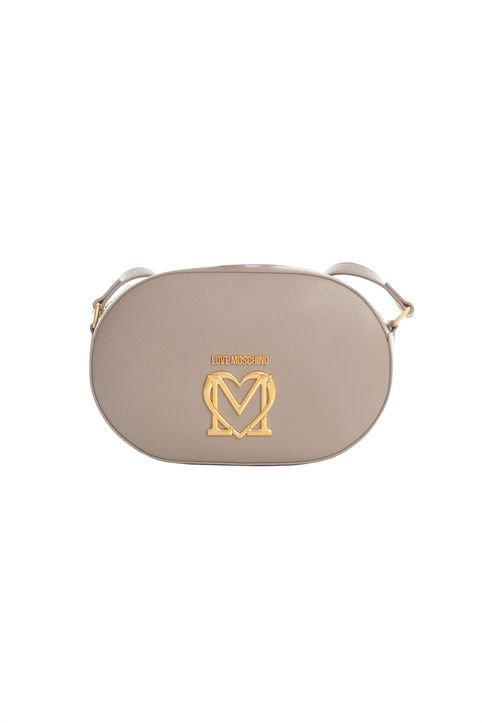 Love Moschino γυναικεία τσάντα crossbody με μεταλλικό logo και διακοσμητικό μαντήλι - JC4217PP1DLL0 - Μπεζ