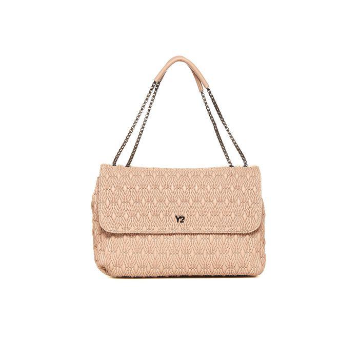 Ynot? γυναικεία τσάντα ώμου καπιτονέ με αλυσίδα και κλείσιμο flap - Q10 - Nude