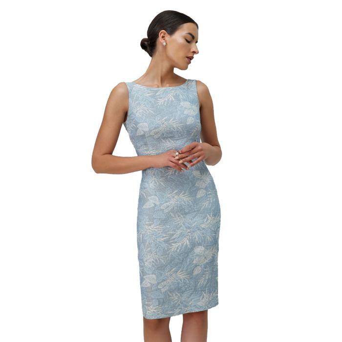 Billy Sabbado γυναικείο φόρεμα μίντι γαλάζιο αμάνικο - 0104930653 - Γαλάζιο