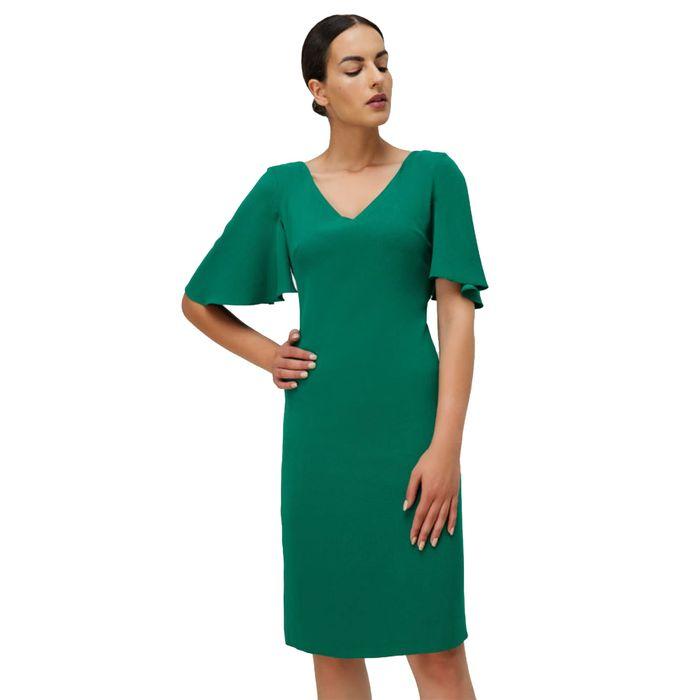 Billy Sabbado γυναικείο μίντι φόρεμαπράσινο με κλος κοντά μανίκια - 0110905549 - Πράσινο