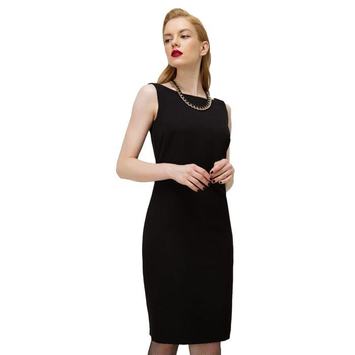 Billy Sabbado Γυναικείο midi φόρεμα μονόχρωμο με κολιέ αλυσίδα - 0110936154 - Μαύρο