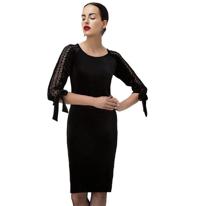 Billy Sabbado γυναικείο φόρεμα απο βελούδο με δαντέλα - 0103916961 - Μαύρο