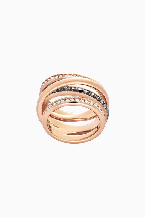 Swarovski Dynamic Ring, Gray, Rose-gold tone plated - 5184219 - Γκρι