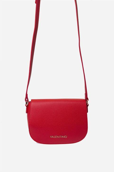 Valentino by Mario Valentino γυναικεία τσάντα crossbody μονόχρωμη με μεταλλικό logo - 54IVBS2U807/SUP - Κόκκινο