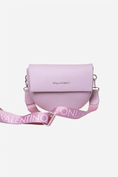 Valentino by Mario Valentino γυναικεία τσάντα crossbody με ιμάντα με logo print - 54IVBS3XJ02/BIG - Ροζ