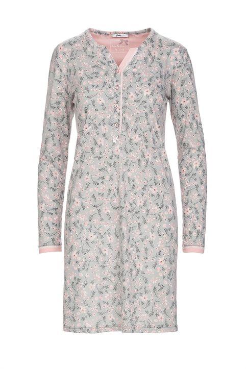 Vamp γυναικείο νυχτικό με floral print plus size - 13019 - Ροζ