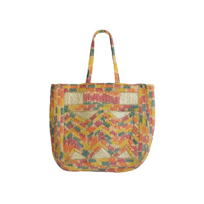 Lovely Hats γυναικεία τσάντα παραλίας colourblocked - DR-5697-1