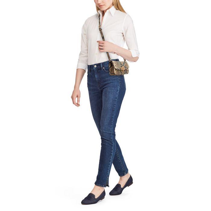 Lauren Ralph Lauren γυναικείo δερμάτινo croco mini bag με snake print - 194-431752969/001 - Καφέ