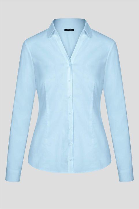 Orsay γυναικείο πουκάμισο με V λαιμόκοψη - 690175-523000 - Γαλάζιο