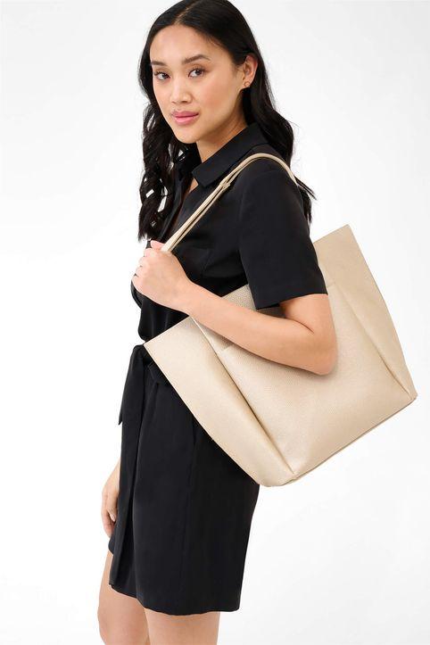 Esprit γυναικεία shopper bag - 905159-146000 - Μπεζ