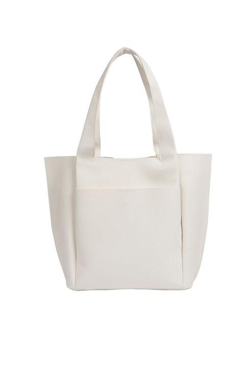 Esprit γυναικεία shopper bag - 905159-001000 - Λευκό