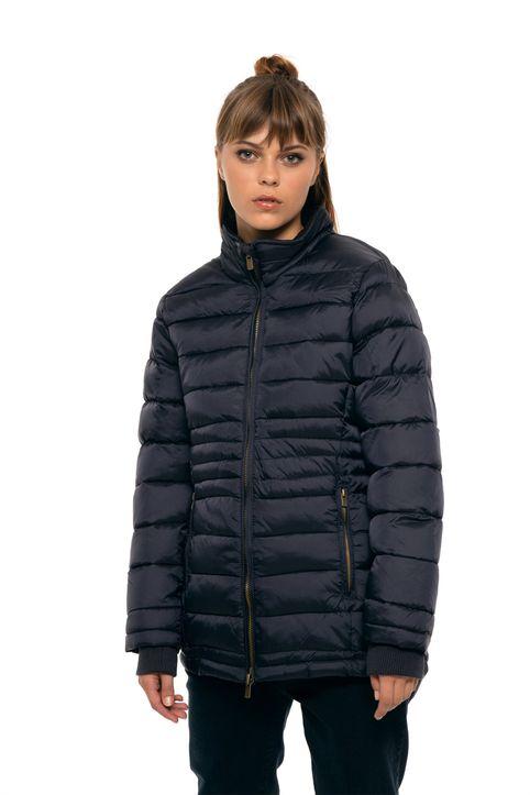 Fransa γυναικείο καπιτονέ μπουφάν με ψηλό γιακά - 20604545 - Μπλε Σκούρο
