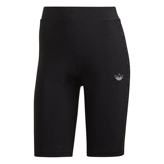 Adidas γυναικείο αθλητικό κολάν με διακοσμητικά τρουκς - GC6786 - Μαύρο
