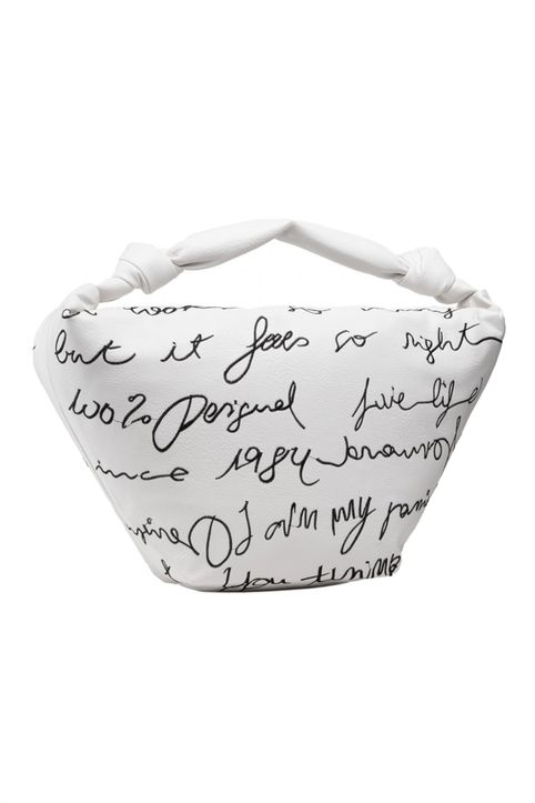 Desigual γυναικεία τσάντα χειρός με all-over letter print