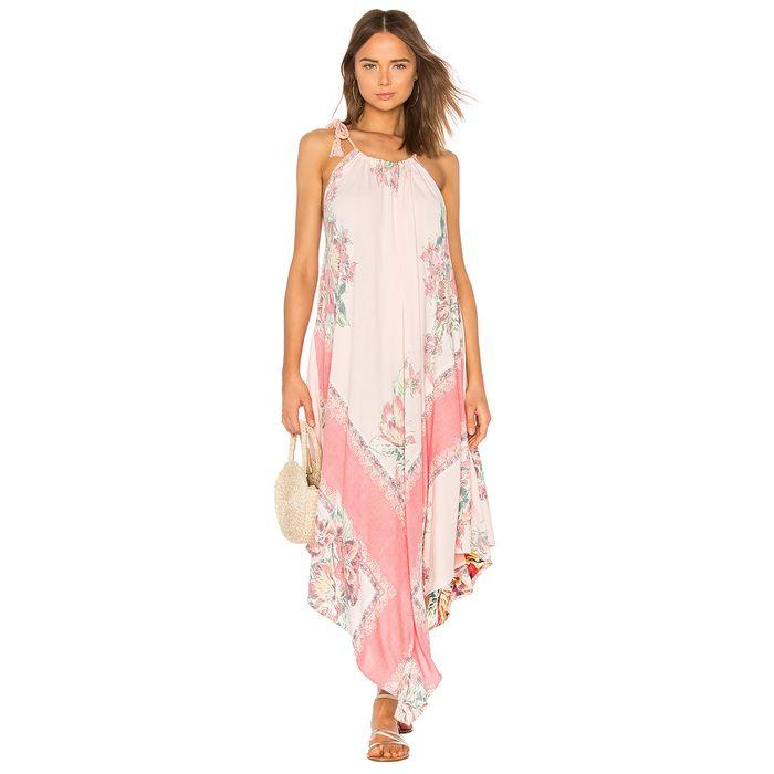 Free People γυναικείο φόρεμα MIND'S EYE MAXI - OB800469 - Ροζ