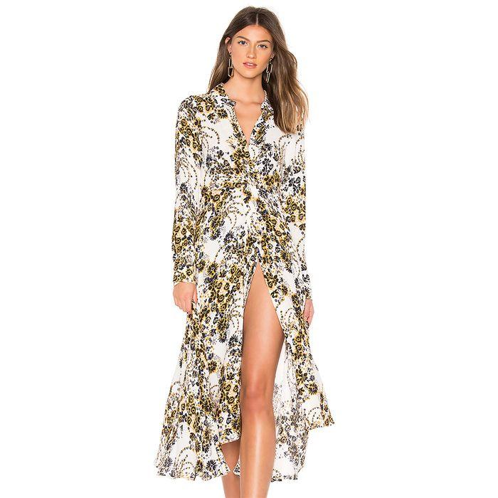 Free People γυναικείο φόρεμα Tough Love Shirtdress - OB872268 - Εκρού