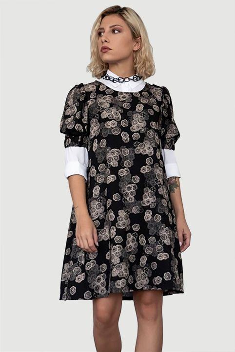 Helmi γυναικείο mini φόρεμα με all-over floral print - 46-05-034 - Μαύρο