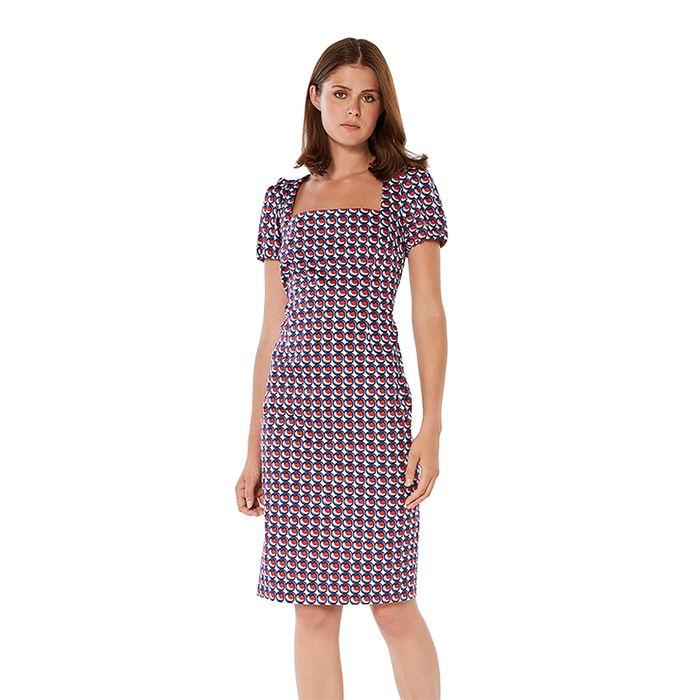 Jupe γυναικείο φόρεμα με all-over print - 21.211.J05.010 - Μπλε Σκούρο