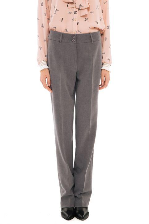 Bella P γυναικείο παντελόνι υφασμάτινο σε κλασσική γραμμή - 21.182.Β03.103 - Γκρι