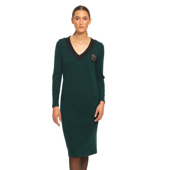 Bella P γυναικείο μίντι πλεκτό φόρεμα με patch - 21.182.Β05.107 - Κυπαρισσί