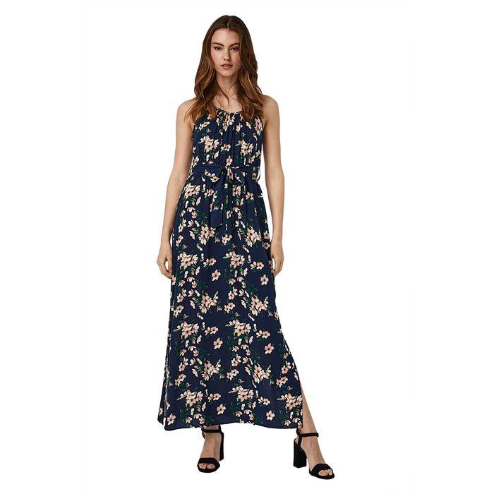 Vero Moda γυναικείo maxi φόρεμα με all-over floral print - 10245167 - Μπλε Σκούρο