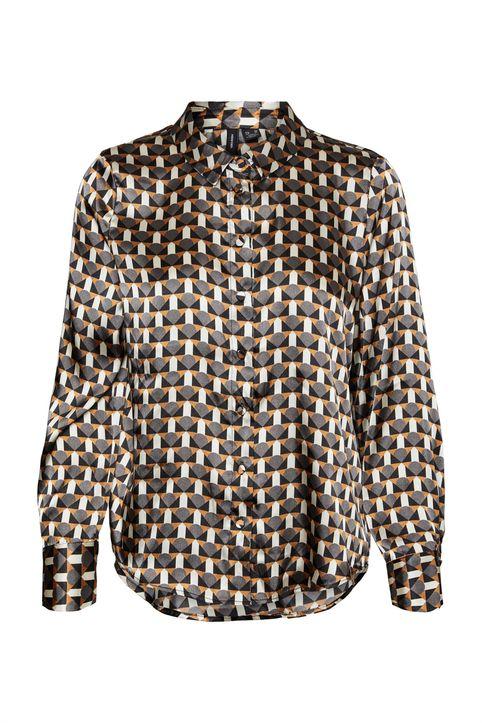 Vero Moda γυναικείo πουκάμισο με all-over γεωμετρικό print - 10253847 - Καφέ