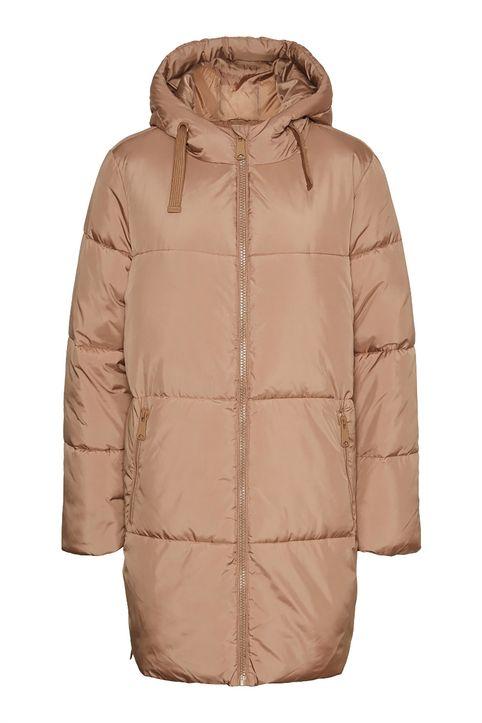 Vero Moda γυναικείο μπουφάν καπιτονέ με κουκούλα - 10247556 - Μπεζ