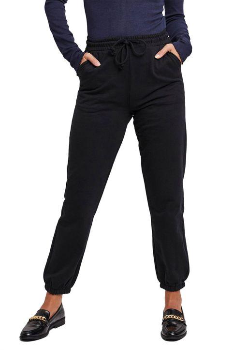Vero Moda γυναικείo παντελόνι ψηλόμεσο με ελαστική μέση - 10252961 - Μαύρο