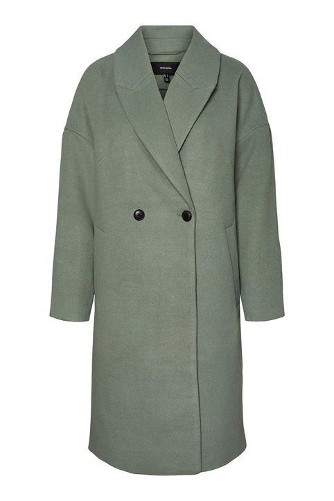 Vero Moda γυναικείο παλτό με κουμπιά - 10252013 - Πράσινο