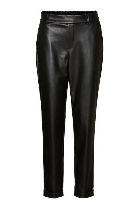 Vero Moda γυναικείο παντελόνι cropped με ελαστική μέση - 10237236 - Μαύρο