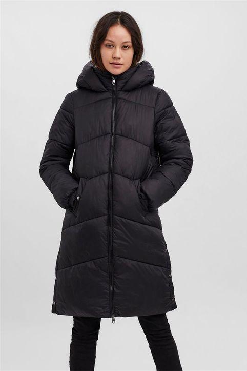 Vero Moda γυναικείο μπουφάν με καπιτονέ σχέδιο και κουκούλα - 10250640 - Μαύρο