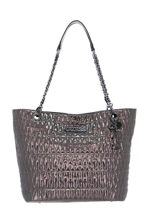 Guess γυναικεία τσάντα ώμου καπιτονέ μεταλλιζέ με αλυσίδα - HWMM7871230 - Μπρονζέ