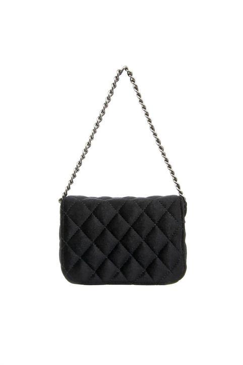 Haralas γυναικεία βελούδινη τσάντα crossbody καπιτονέ - har-wo--b-213-7 - Μαύρο