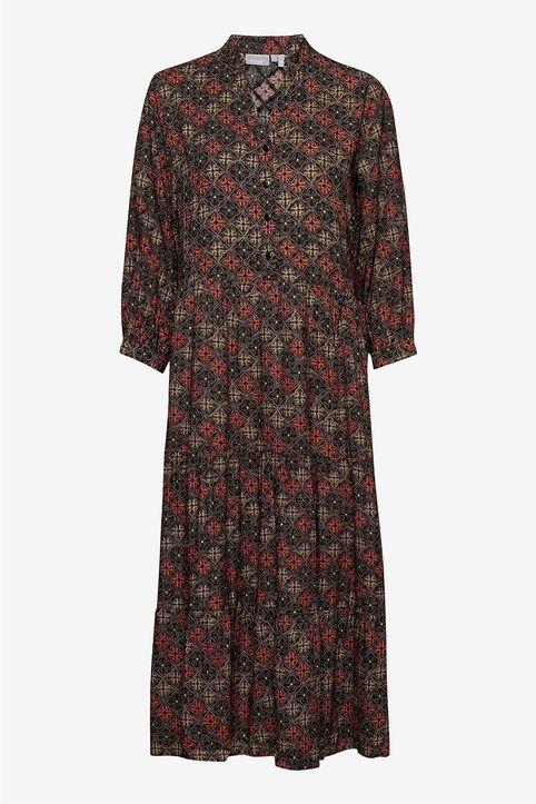 Fransa γυναικείo maxi φόρεμα με all-over print - 20608592 - Μαύρο