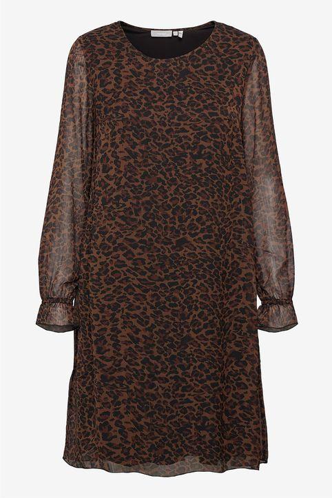 Fransa γυναικείo mini φόρεμα με leopard print - 20608648 - Καφέ