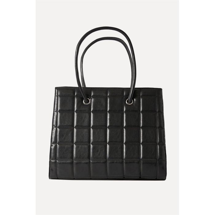 NA-KD γυναικεία τσάντα ώμου καπιτονέ - 1015-002561 - Μαύρο