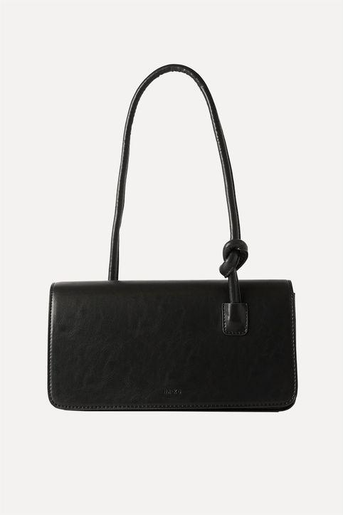 NA-KD γυναικεία τσάντα ώμου με διακοσμητικό κόμπο στο λουρί - 1015-002568 - Μαύρο