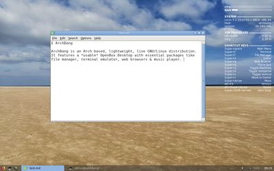 09 Leafpad text editor