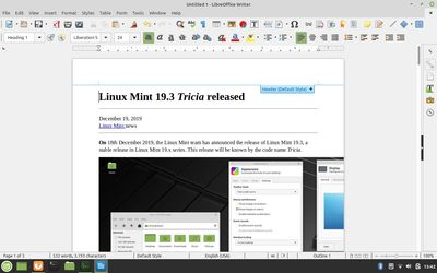 16 LibreOffice Writer