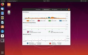 24 Resource usage with gnome system monitor