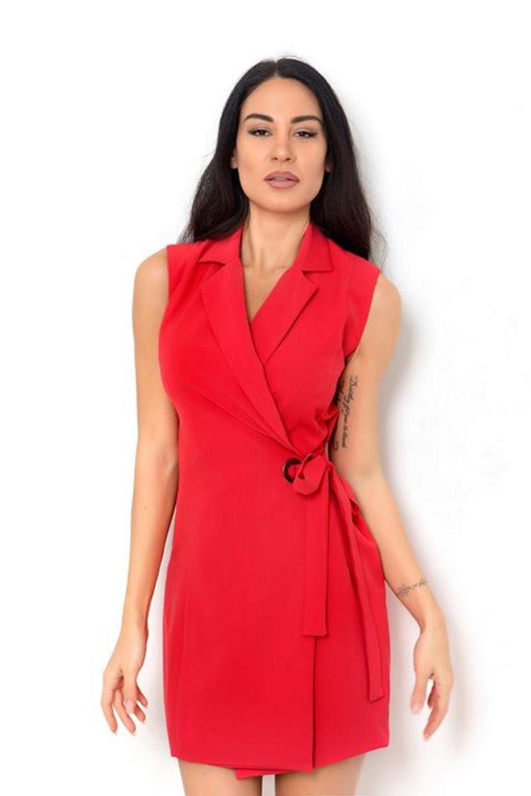Κρουαζέ κόκκινο φόρεμα!