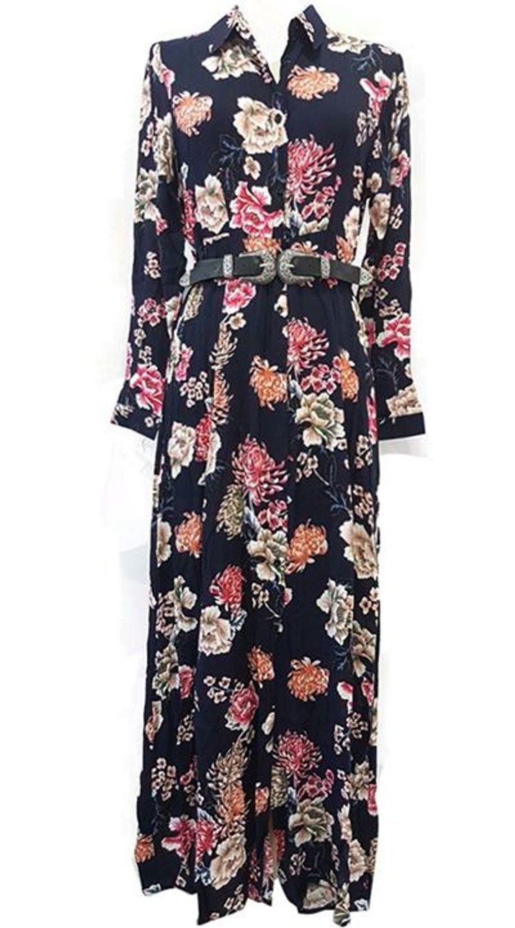 Floral shirt dress!