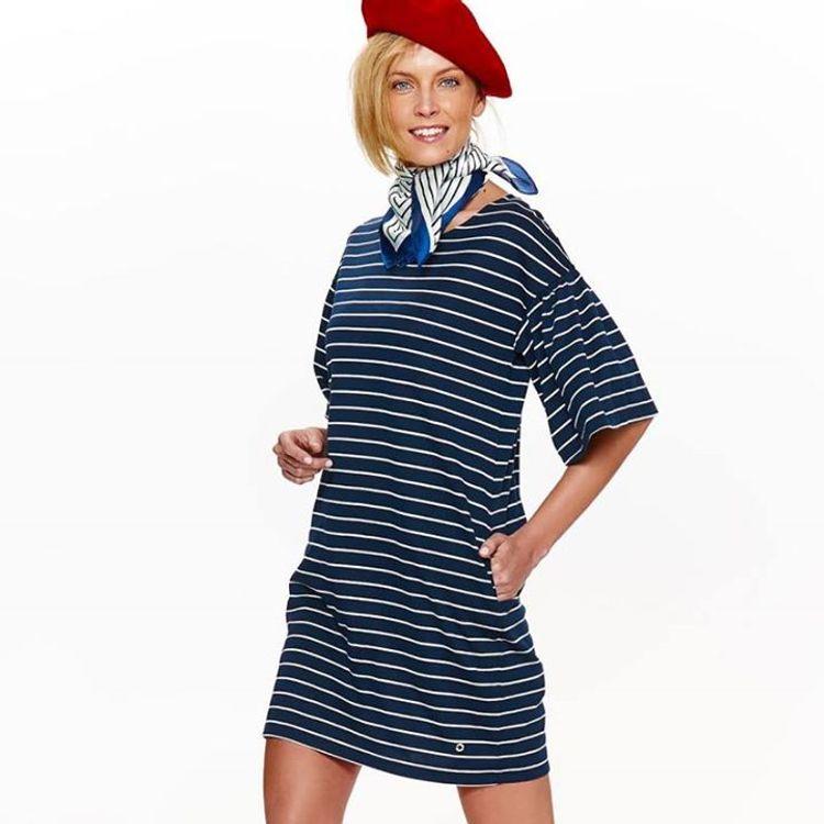 Ριγέ casual φόρεμα!