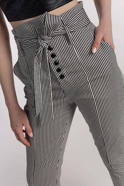 Ριγέ ψηλόμεσο παντελόνι!