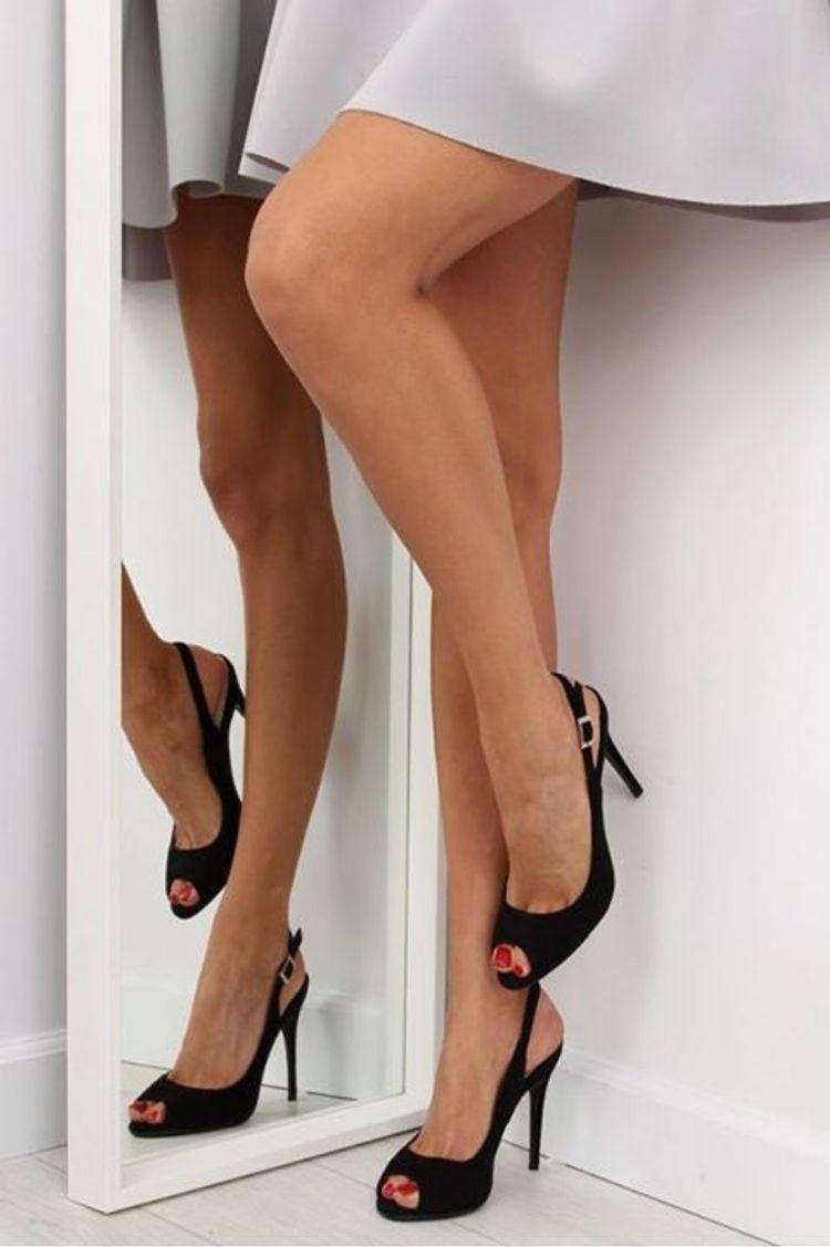 Μαύρα Σουέντ ψηλοτάκουνα πέδιλα!
