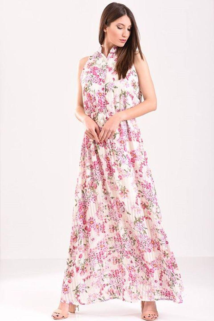 Floral maxi φόρεμα!