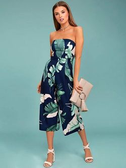 Tropical strapless ολόσωμη φόρμα!