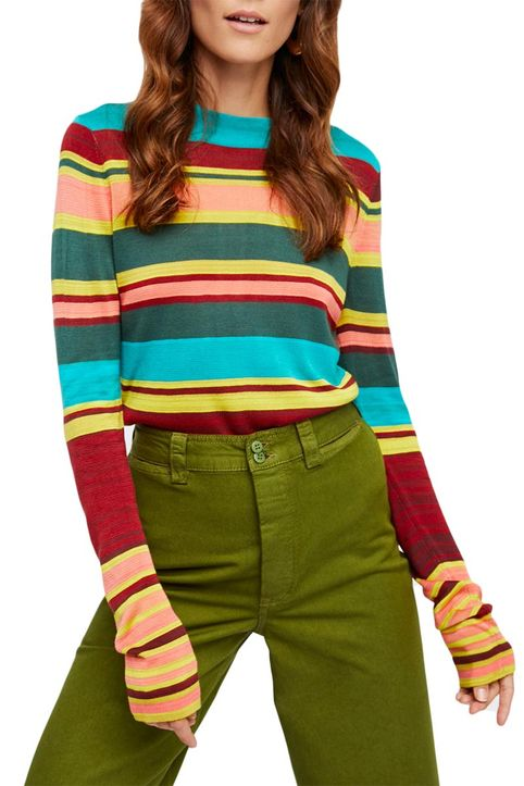 Free People Show of your stripes πουλόβερ