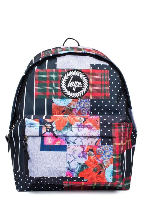 Hype patchwork backpack
